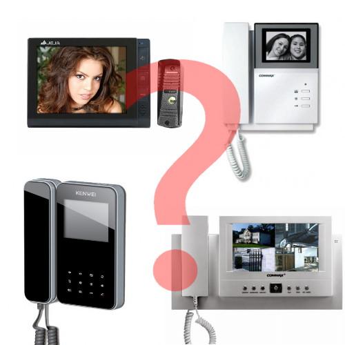 модели видеодомофонов