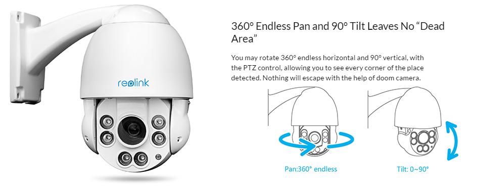 Панорамные IP-камеры 360⁰ с объективом «рыбий глаз». Источник фото: reolink.com