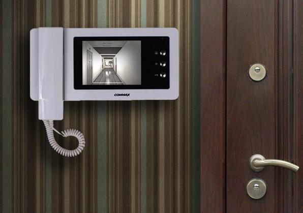 изображение на видеодомофоне