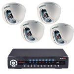 Что представляет собой комплект видеонаблюдения на 4 камеры