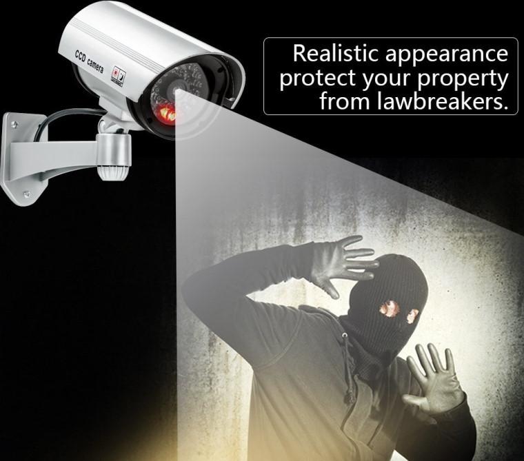 Муляж видеокамеры оказывает психологическое воздействие на преступника. Источник фото: apptimac.com