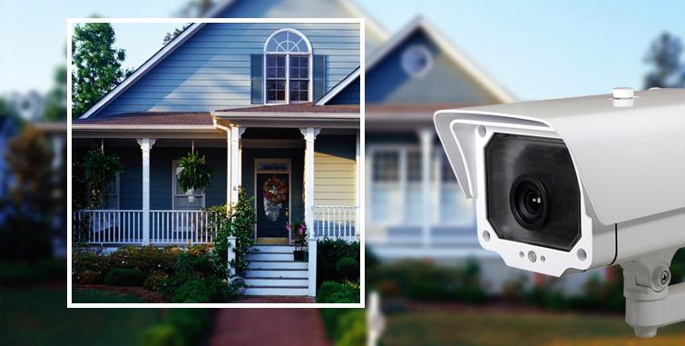 Муляж видеокамеры во дворе дома. Источник фото: redflagsecurity.ca